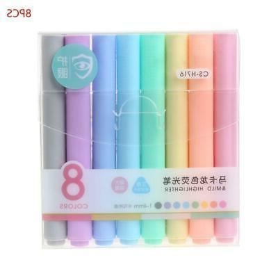 8pcs/set Highlighter Pencil Fluorescent Pen Candy Drawing