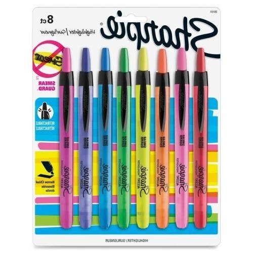 - Sanford Retractable Highlighters-Highlighter, Retractable,