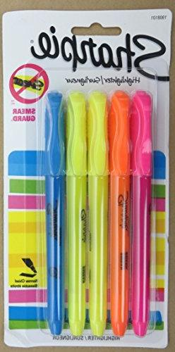 Sharpie Accent Pocket Style Highlighters, Chisel Tip, Assort