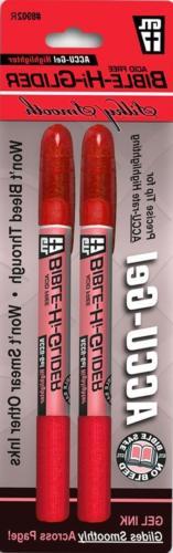 Accu-gel Bible Hi-Glider 2-pack Red