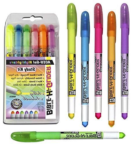 accu gel highlighters study kit