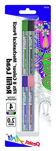 Pentel Arts 8 Colour Pencil Lead Refill  - Assorted Colors,