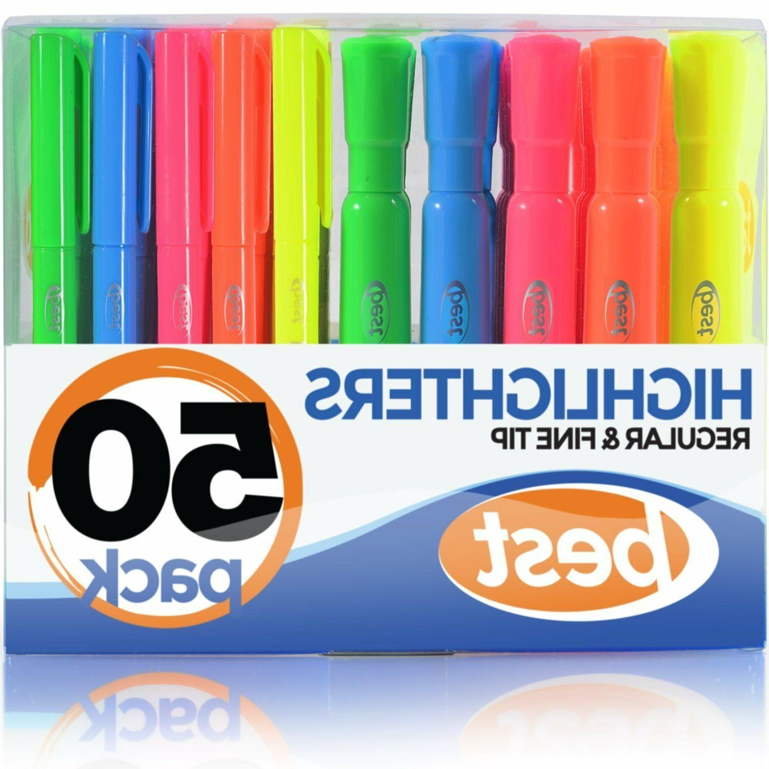 best highlighters xxl 50 pack 2 styles