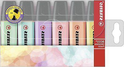 boss highlighters pastel colours pack 6