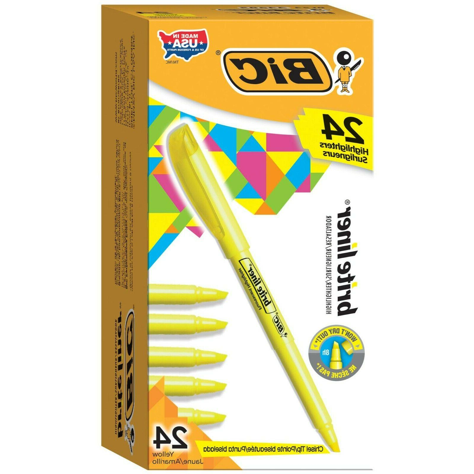 BICamp;reg; Brite Liner Chisel Fluorescent Ink, 12