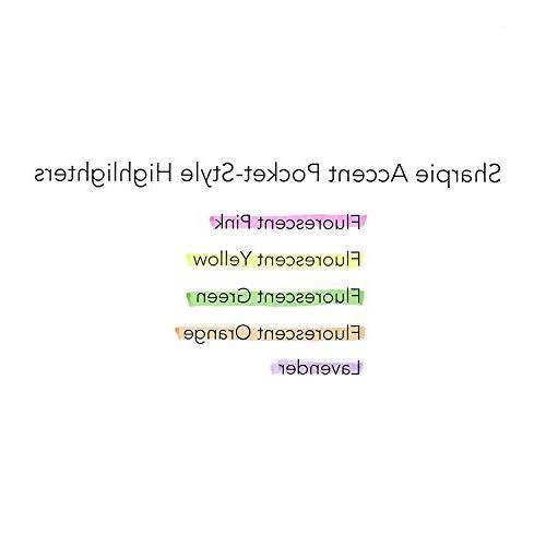 Bulk Accent Highlighters Fluorescent Yellow Tip