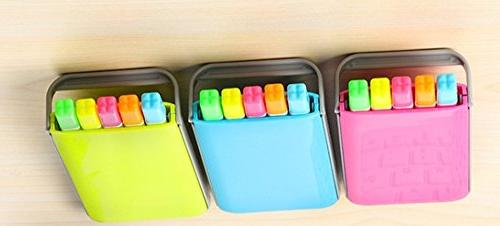 5 colors/box highlighter pen set fluo markers pink