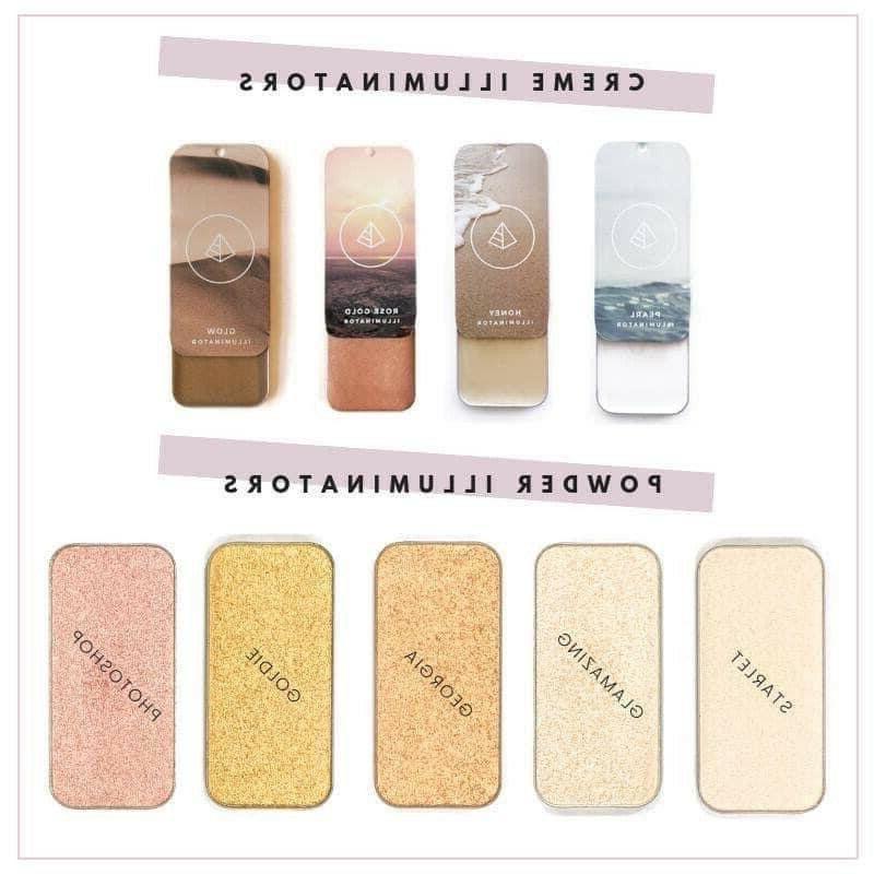 choose your illuminator highlighter cream and powder