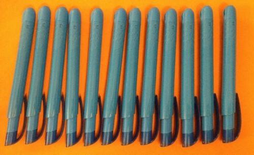 click highlighter chisel tip fluorescent blue ink