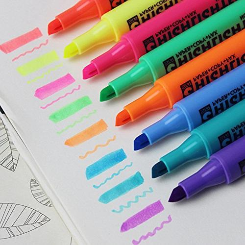 Multi-Color Pen Marker Paint Pens Coloring Highlighters of 8
