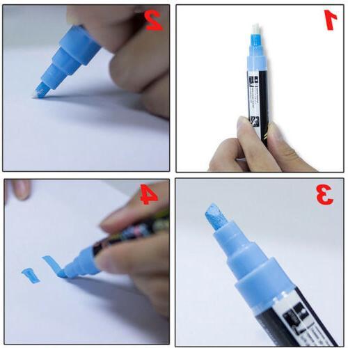 Dual LED Writing Fluorescent Marker Pen