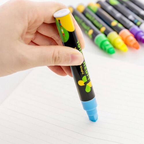 Dual Liquid Chalk LED Writing Board Fluorescent Neon Marker Pen