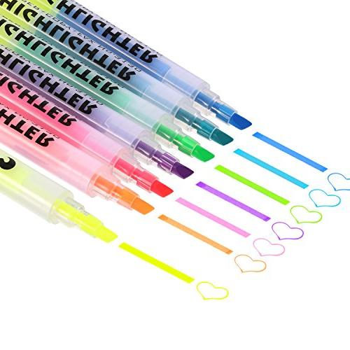 dual tips permanent markers highlighter