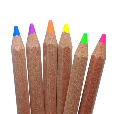 Eco Highlighter Pencils Size Neon Color with Sharpener