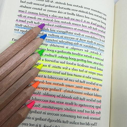 Eco Highlighter Pencils Size Color with Sharpener