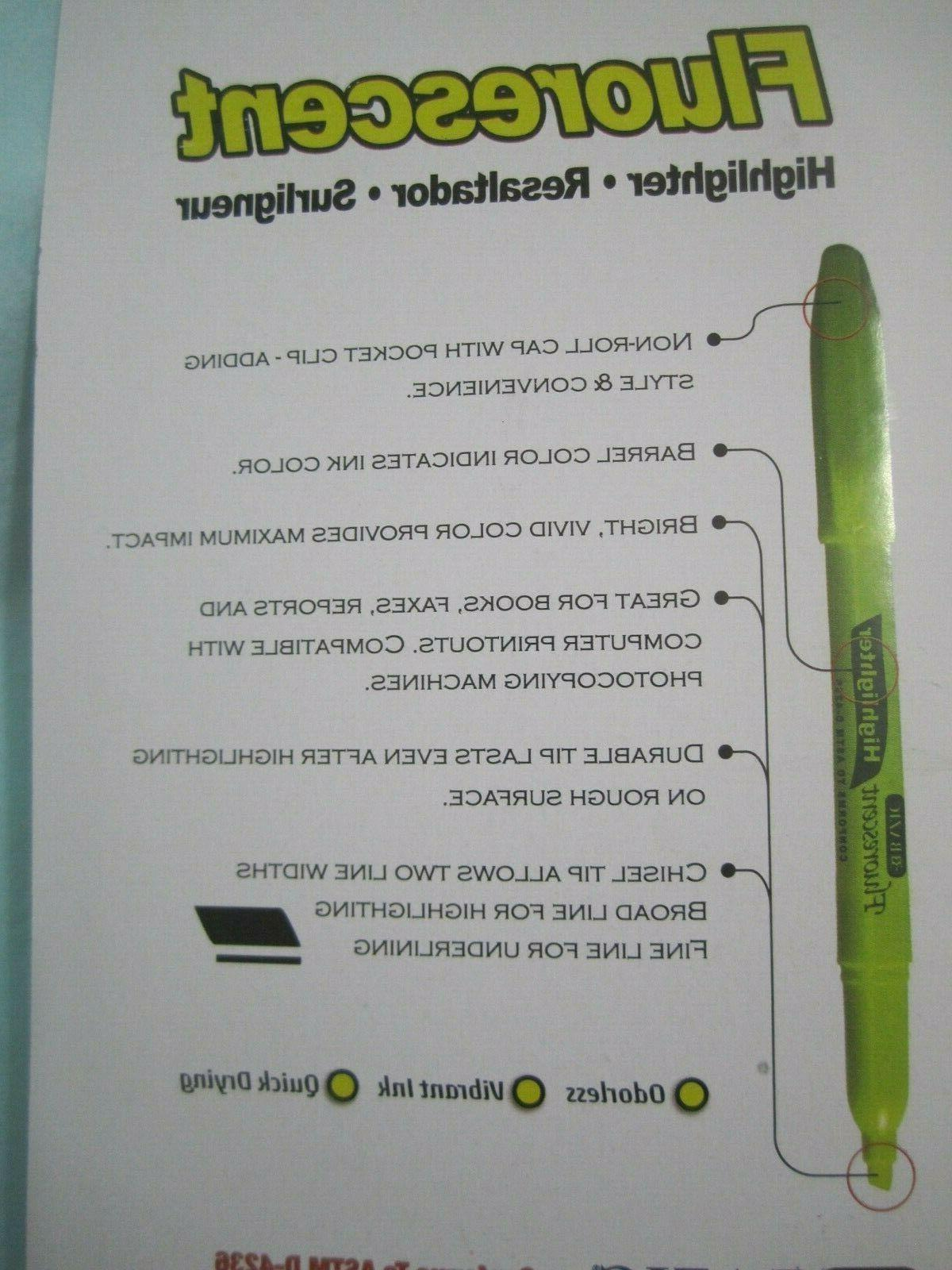 Fluorescent Highlighters Quick Dry 5