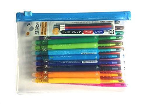 Pilot FriXion Ball Retractable Erasable Pens, Extra 0.38 Clear case color refills