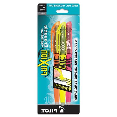 Frixion Lite Erasable Highlighter, Assorted Ink, Chisel, 3 p