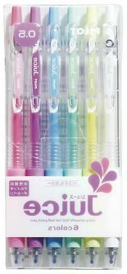 Pilot Gel Ballpoint Pen Juice 0.5, 6 Pastel Color Set