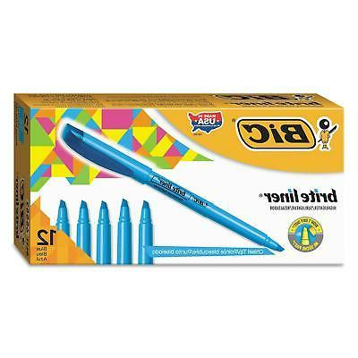 highlighter chisel tip fluorescent blue bulk school