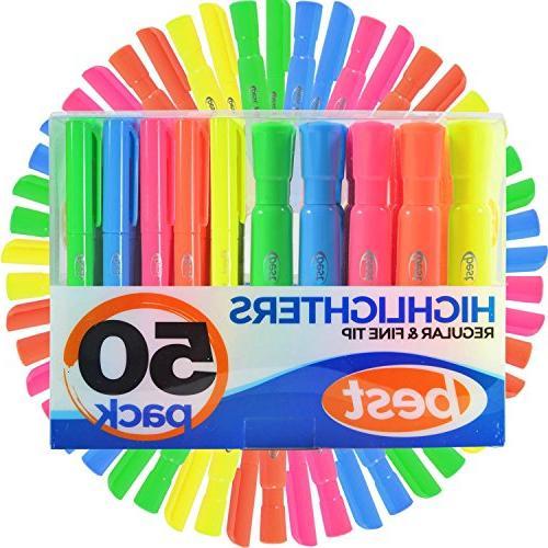 highlighters 2 styles barrel pen