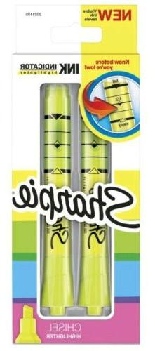 Sharpie Highlighters Chisel Tip Fluorescent Yellow 2 count I