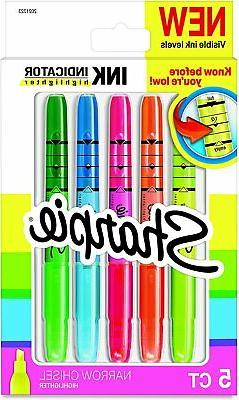 Sharpie Ink Indicator Stick Highlighters, Chisel Tip, Assort