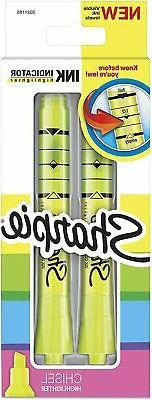 Sharpie Ink Indicator Tank Highlighters, Chisel Tip, Fluores