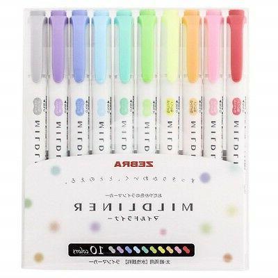 mildliner 10 color double sided highlighter marker