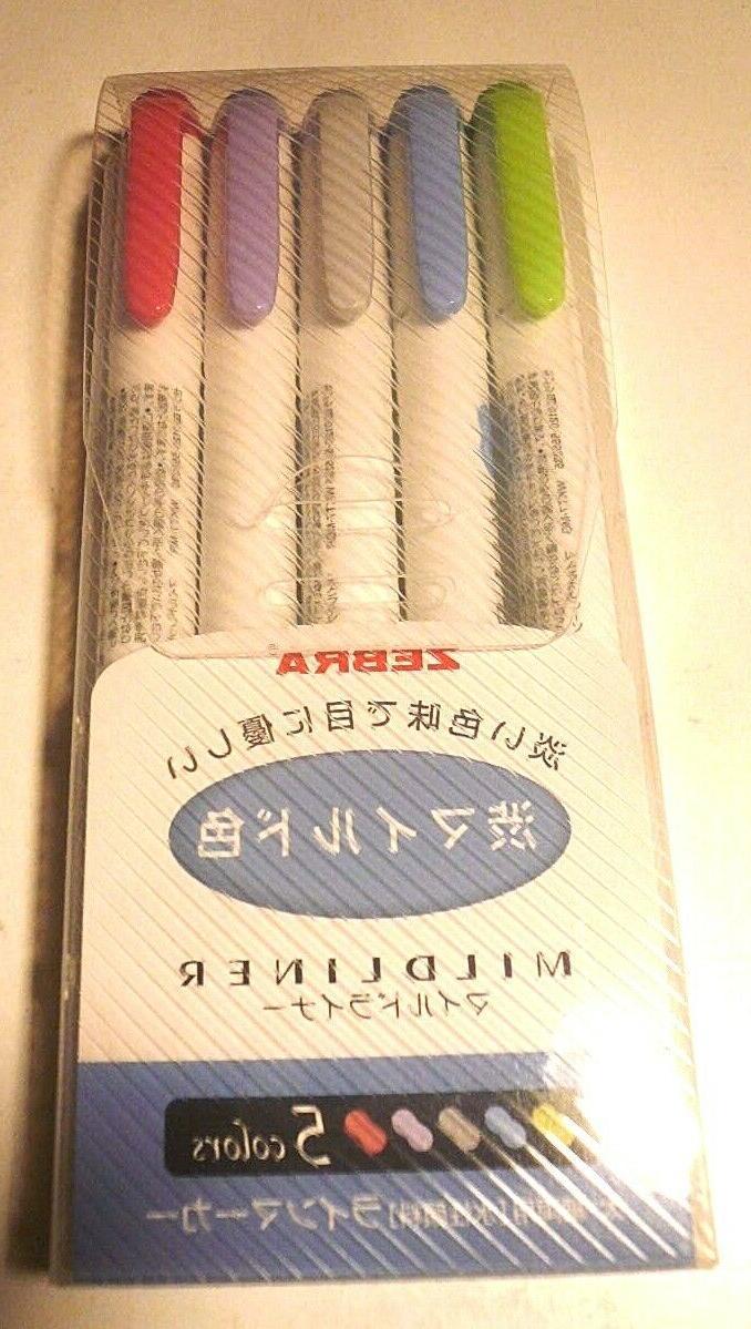 Zebra NC5 5 colors WKT7-5C-NC Highlighter Mild liner Japan I