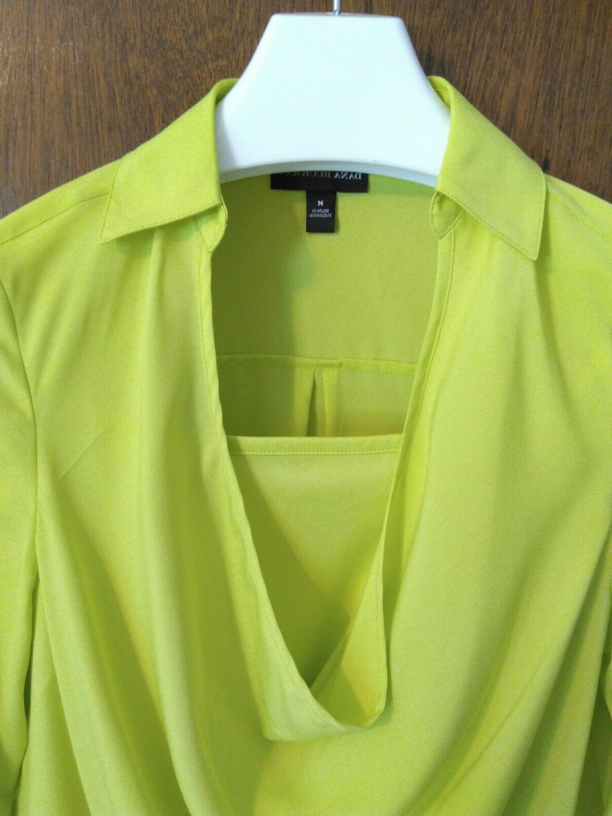 neon highlighter yellow two piece tank blouse