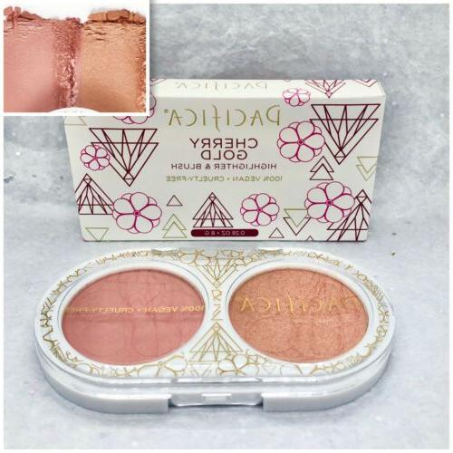 pacifica beauty cherry gold highligher and duo