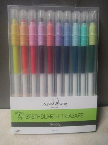 paperie erasable highlight pens bright 4 3mm