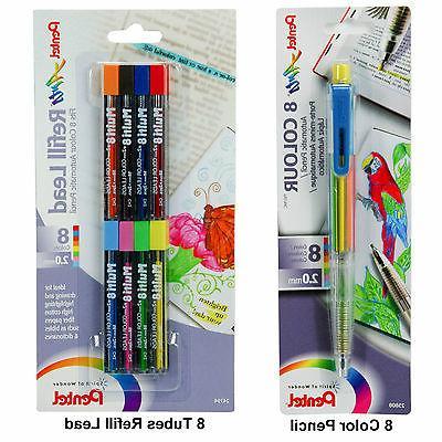 Pentel PH158 8 Color Pencil & 8 Tubes Of Refill Lead, Bible