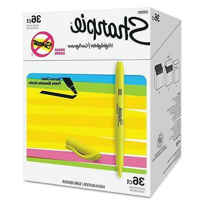 pocket highlighters chisel tip yellow durable tuff