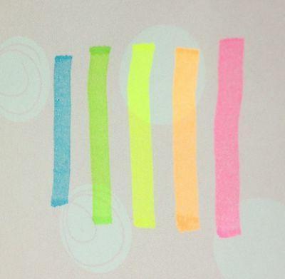 Set Pentel Pen 5 Colors Orange Pink