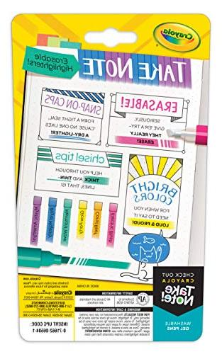Crayola 58-6504 Erasable Highlighters, 6 Assorted