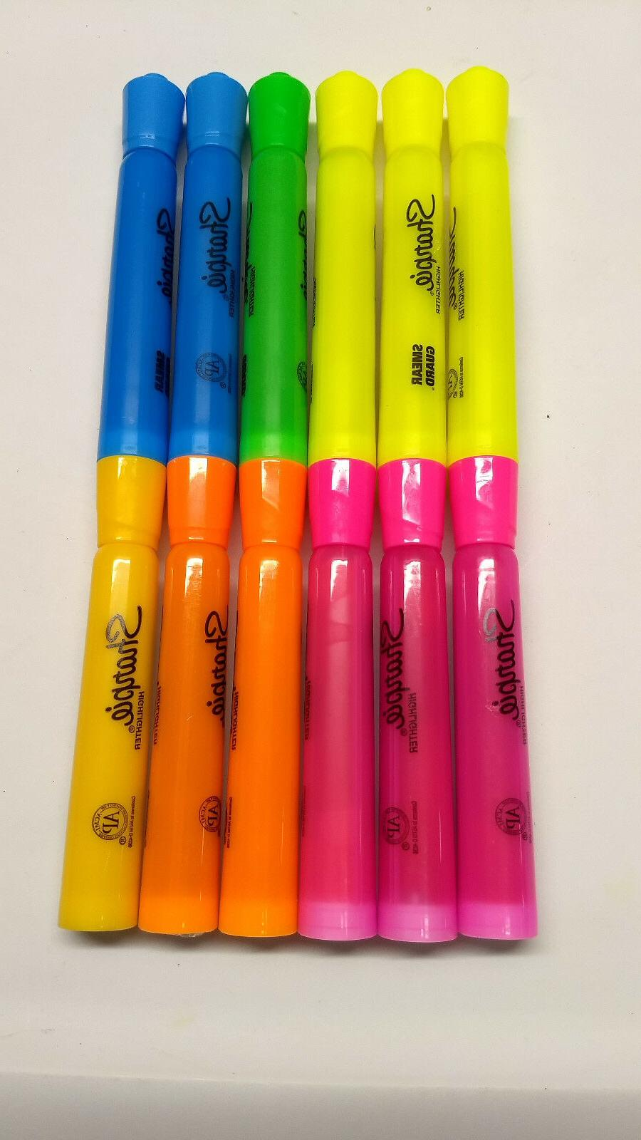 tank highlighters chisel tip assorted colors 12