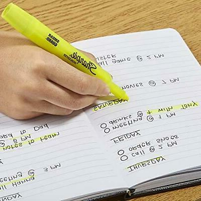 Chisel Yellow Highlighter Pens,