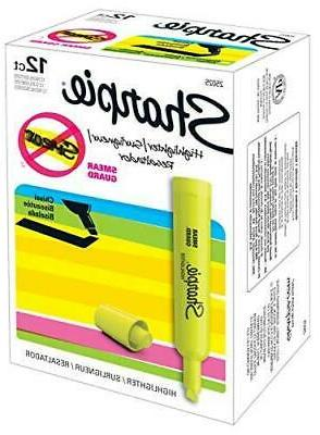 Sharpie Highlighters Chisel Tip Highlighter Pens, 12 Count
