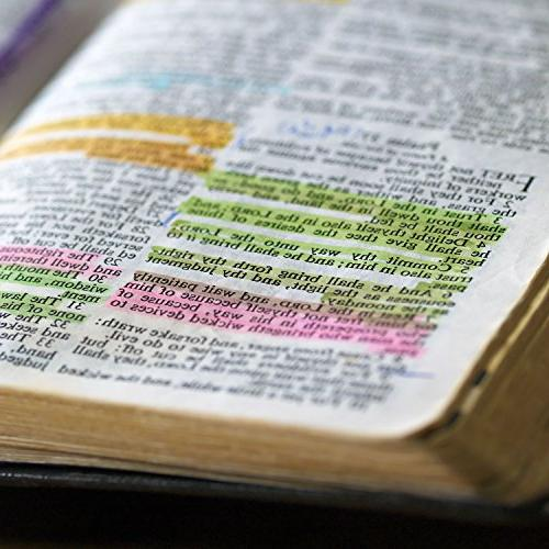 U.S. Bible Safe Highlighters 6 Bright Colors - Won't Fade or Smear Study Guide