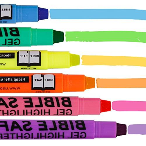 U.S. Bible Safe - 6 Bright Colors - Won't Bleed, Fade Study Guide