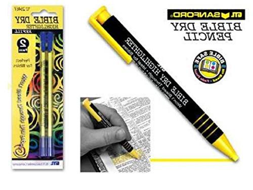 yellow dry bible highlighter pen