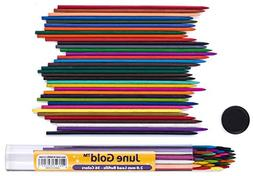 June Gold 36 Assorted Colored Lead Refills, 2.0 mm Extra Bol