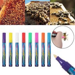 LED Highlighter Queen Bee Marking Marker Pen White/Yellow/Gr