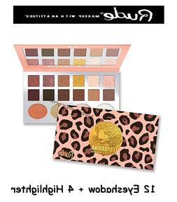 Rude Leopardina 12 Eyeshadow + 4 Highlighter Palette - Authe