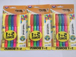 Lot of 18 BIC Chisel Tip Highlighter ,Yellow, Pink, Blue, Gr