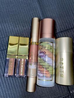 STILA lot Of 5 Items. One Step Primer, Glitter & Glow, Lip G