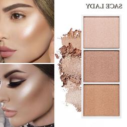 Makeup Highlighter Powder Palette Concealer Illuminator Face