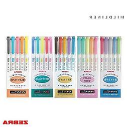 Zebra Mildliner - FULL 25 Colour Set
